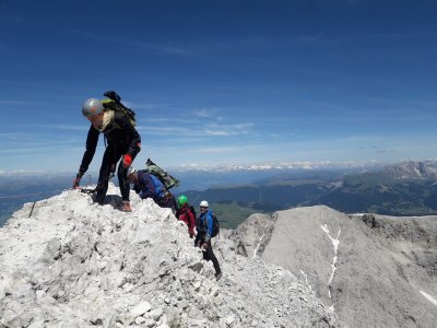 A week of via ferrata in the Fanes Group